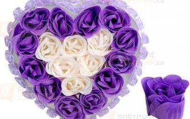 Svatební dekorace srdce s krajkou - fialová a poštovné ZDARMA! - 9999921589