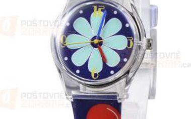 Dívčí tmavěmodré hodinky s obrázkami a poštovné ZDARMA! - 9999921654