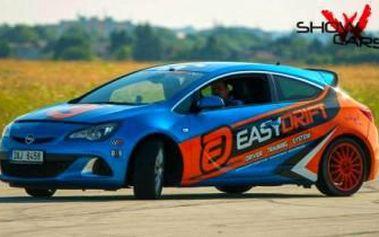 30 minut JÍZDY V DRIFTOVACÍ KÁŘE Opel Astra OPC s revolučním EasyDrift systémem! Perfektní DÁREK.