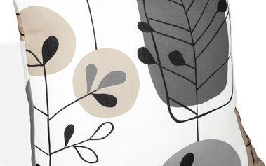 Albani Povlak na polštářek Manta hnědá, 45 x 45 cm