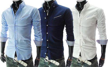 Pánská košile slim-fit s dlouhým rukávem