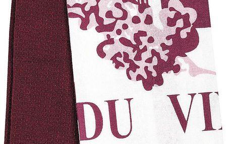 France Invendus Kuchyňská utěrka Passion du Vin, 40 x 60 cm, sada 2 ks