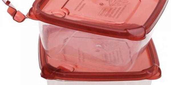 Čtvercová plastová dóza s víkem 2 ks vítaný pomocník do domácnosti!