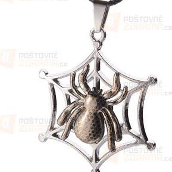 Unisex náhrdelník s přívěskem pavouka a poštovné ZDARMA! - 9999921600