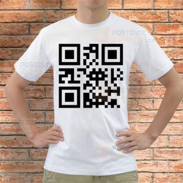 Tričko QR kód Boris a poštovné ZDARMA! - 9999920779