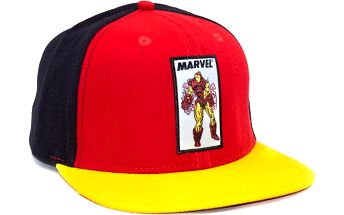 Kšiltovka Addict Iron Man Retro Original Red/Yellow Snapback černá / žlutá / červená