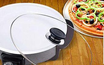 Keramická elektrická bio pánev s poklicí Renberg: Na pizzu a další skvělé pokrmy!