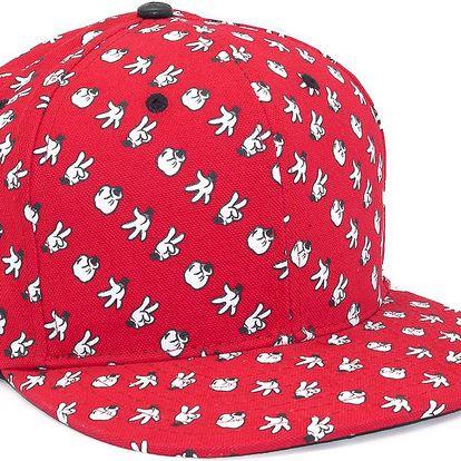 Kšiltovka Booger Kids Rock Paper Cut All Over Red Strapback červená / bílá / zelená