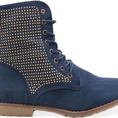 Semišová kotníková obuv 67537DK.BL Velikost: 39