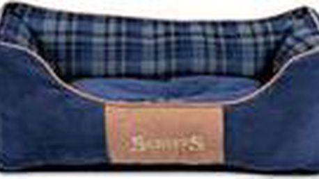 Žinylkový pelíšek s protiskluzovým spodním dílem Scruffs Highland Box Bed M 60x50cm modrý