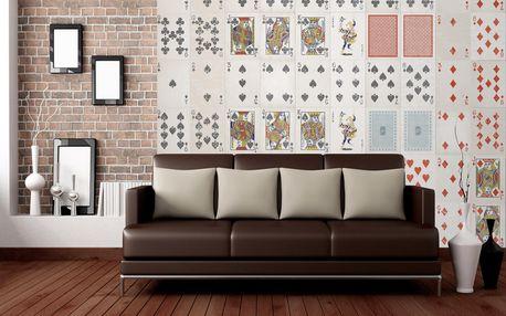 Kreativní koláž 64 dílů hrací karty