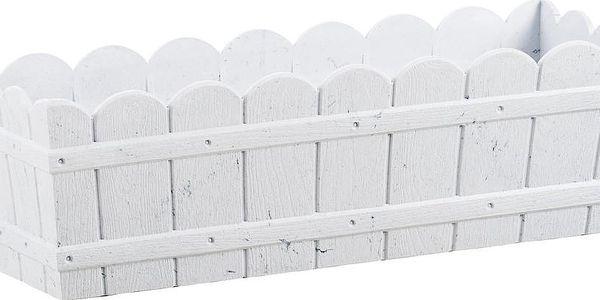 Vysoce odolný květináč na parapet Country 75 cm, bílý