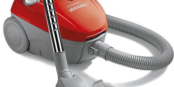 CONCEPT VP-8010 COOPER sáčkový vysavač červený