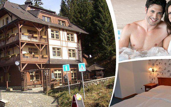 Pobyt pro dva na 3 dny v hotelu Modrava se snídaní, relaxační koupelí ve whirpool a zapůjčení kol.