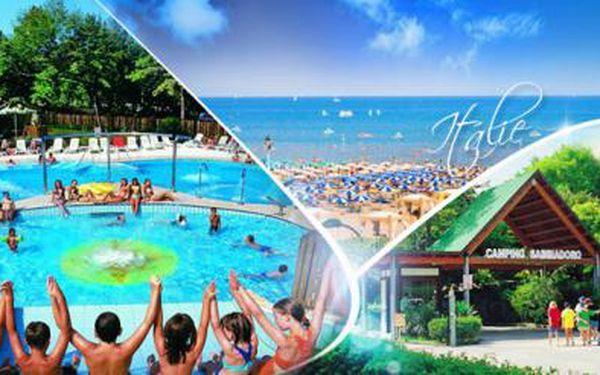 ITÁLIE, Lignano - ubytování na 8 dní s PLNOU PENZÍ pro 1 osobu v kempu s BAZÉNEM v termínu 6.-13.6.2015!