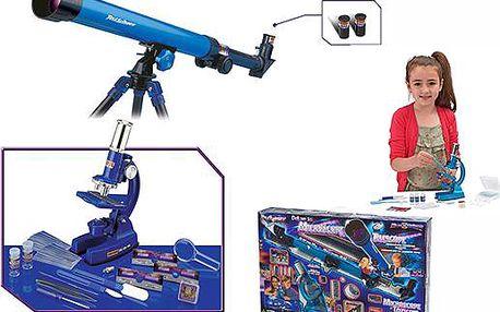 Deluxe mikroskop a teleskop dětský, 64 dílů
