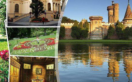 Slavnosti růží v Badenu a impozantní zámecký park Laxenburg s nádherným vodním zámkem Franzesburg.