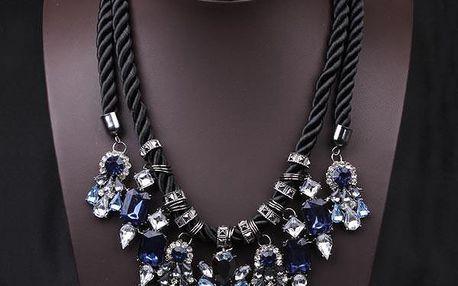 Mohutný náhrdelník s ozdobným lankem