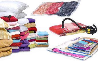 5 vakuových pytlů 80x60 cm pro snadné uskladnění prádla