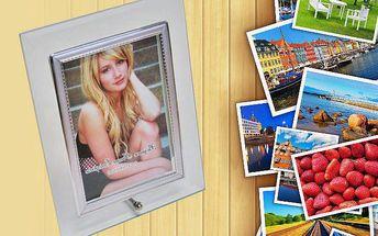 Skleněný rámeček na fotografie