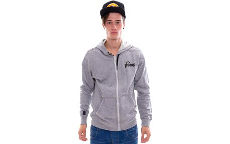 Mikina s kapucí Reebok Classic PP FZ Hoody Grey šedá / černá