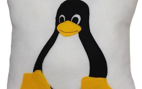 Šiji Polštář Linux Tux (37 x 37 x 15 cm)