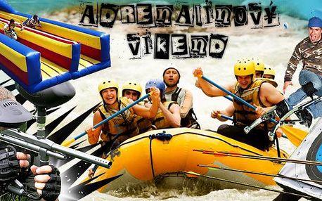 Nabitý víkend plný adrenalinu. Raftová akademie - rafty Denali Hobit 500! V ceně ubytování ve stanech, pronájem raftů, plná penze, grilování, neomezená konzumace piva, paintball, skákací boty či lukostřelba.