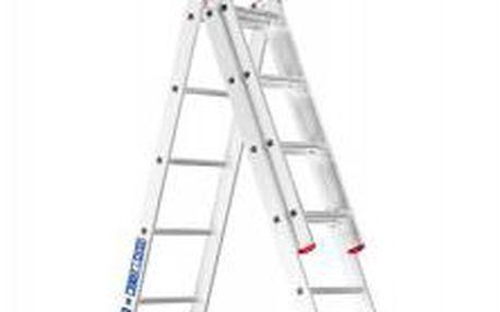 Trojdílný hliníkový žebřík RATIO 44 představuje velkou flexibilitu v hobby použití