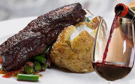 2x 300g Rib Eye steak a 2x příloha v restauraci U Kroužků