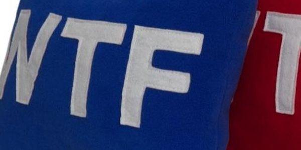 Šiji Polštář WTF (30 x 20 x 15 cm)