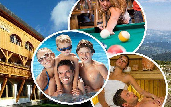 Pobyt pro 2 osoby ve Špindlerově Mlýně, polopenze či plná penze, vstup do wellness, bazén, billiard.