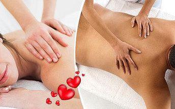 Májová nabídka pro zamilované 1+1 relaxační masáž zad a šíje