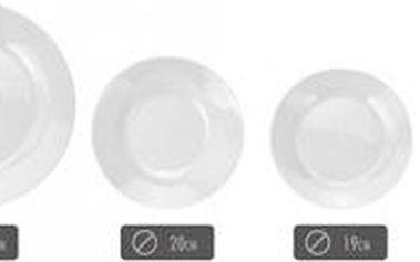 Jídelní sada talířů 16 ks porcelánová ProGarden KO-185127