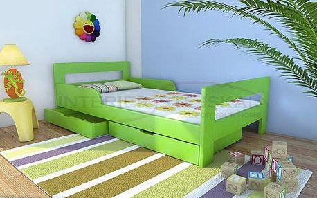 Kvalitní dětská postel z borovicového masivu