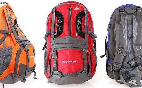 Prostorný batoh Man weils s vyztužením zad v několika barvách