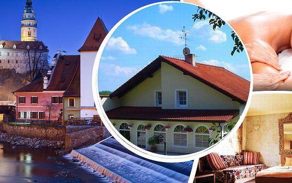 Luxusní pobyt v Českém Krumlově na 3 nebo 6 dní s bohatou polopenzí, sauna, bylinková lázeň a masáž.