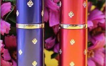 Mini flakónek na parfém - doplňovatelný, 4 barvy