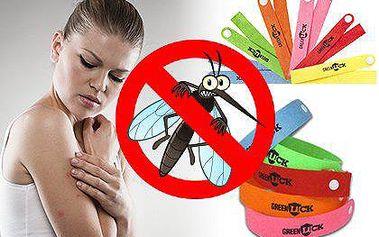 20 ks repelentních náramků proti komárům