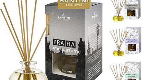 Bytové parfémy s ratanovými stébly a osvěžovače ve 4 vůních