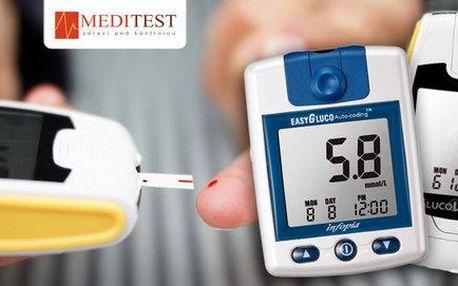 Měřiče krevního cukru s testovacími proužky