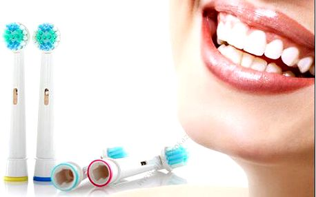 4 univerzální hlavice na kartáčky Oral-B, doručení zdarma