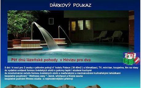 Komfortní Héviz pro dva - skvělý wellness u termálního jezera na 5 dnů s polopenzí v Palace Hotelu 4*