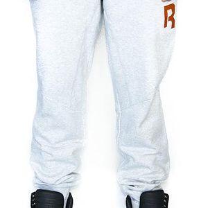 Tepláky Reebok Classic Fleece CF Light Grey šedá / oranžová XXL