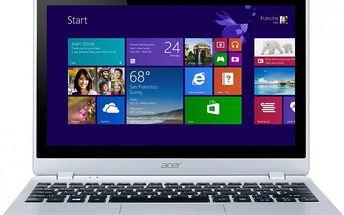 Ultra tenký notebook Acer Aspire V5–122P v konfiguraci s dotykovým HD displejem
