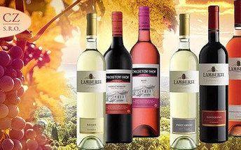 Balení 6 příjemných vín z Itálie a z JAR