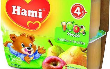 Hami 100% ovoce jablko,hruška 6x400g