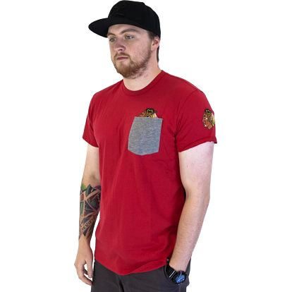 Triko 47 Brand Sneak Tip Chicago Blackhawks Red červená / šedá L