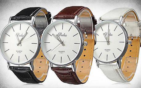 Značkové hodinky DALAS F 011 s koženým páskem