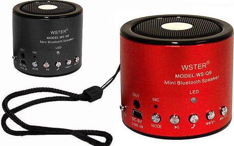 Přenosný reproduktor Bluetooth WS-Q9 s vestavěnou baterií