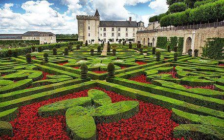 4denní poznávací zájezd na nejkrásnější zámky na Loiře ve Francii pro 1 osobu
